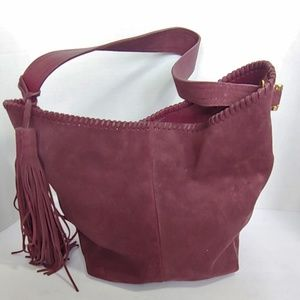 Vince Camuto Plum suede bucket bag